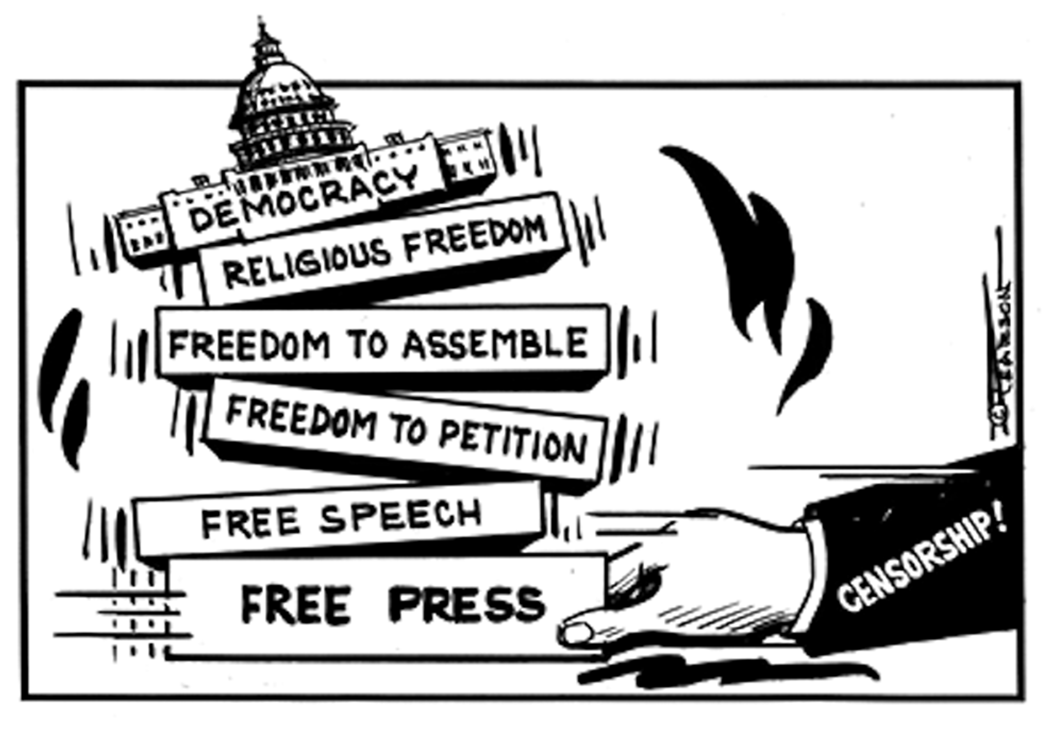 the abuse of the freedom of speech and freedom of press by the media in the united states