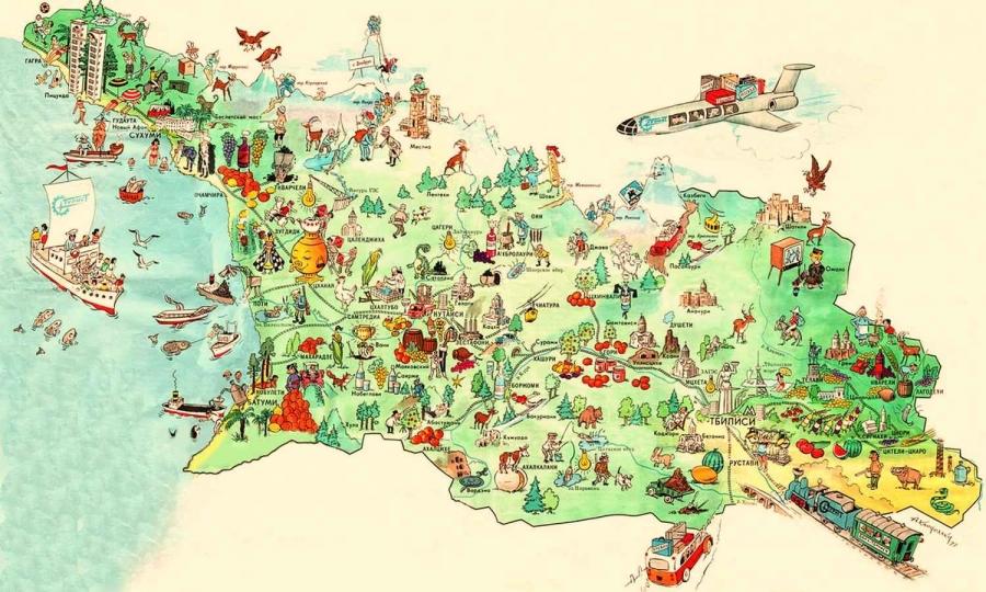 Georgia A Small Country With A Giant Heart Map Of Georgia In - Georgia kazbegi map