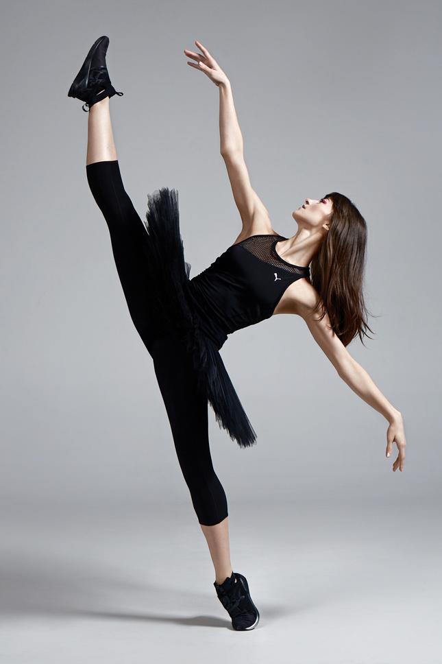 81f56317727af3 Georgian ballerina of Bolshoi Theater presents Puma Swan collection ...