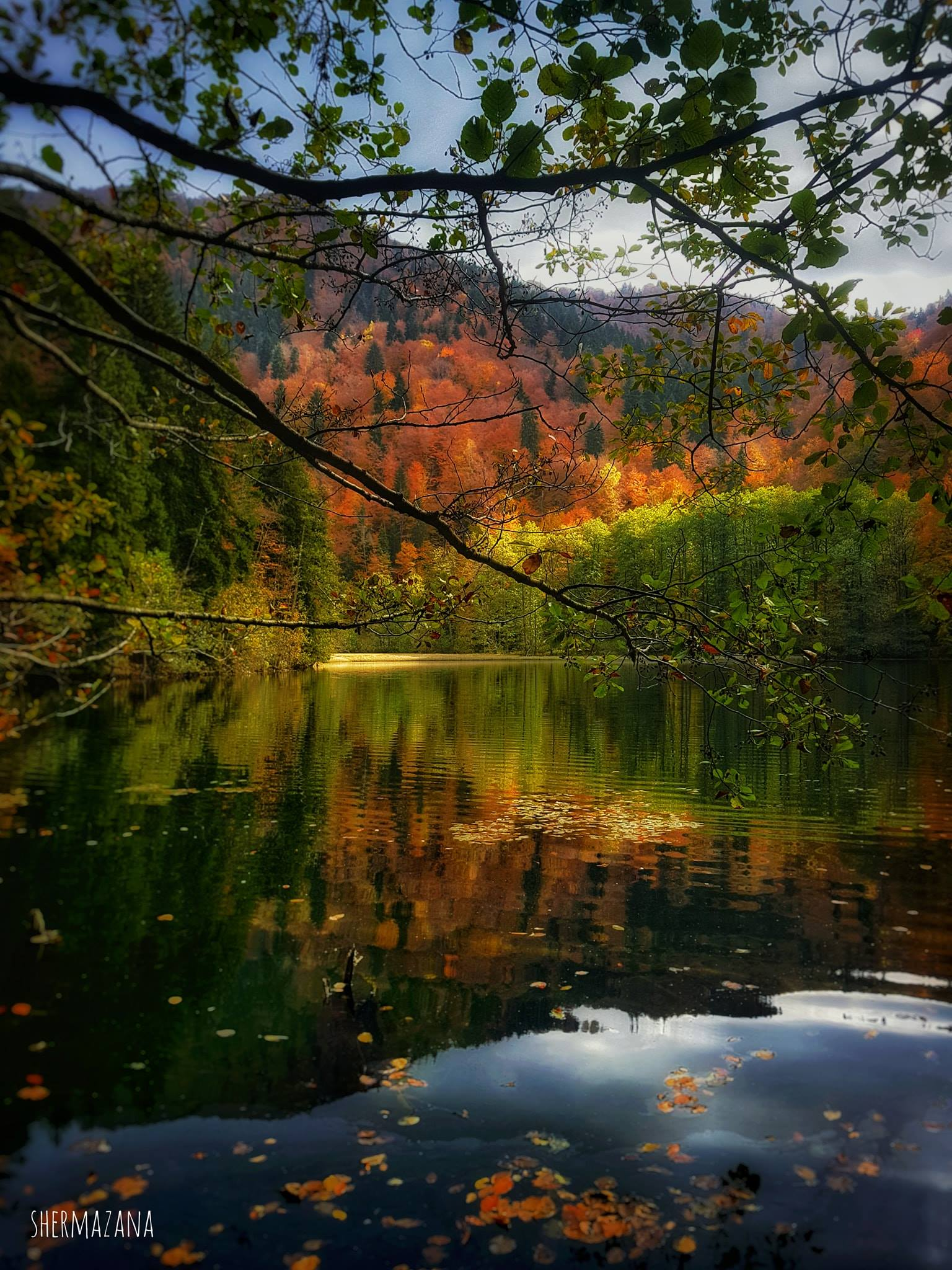 Bateti Lake in Autumn by Shermazana